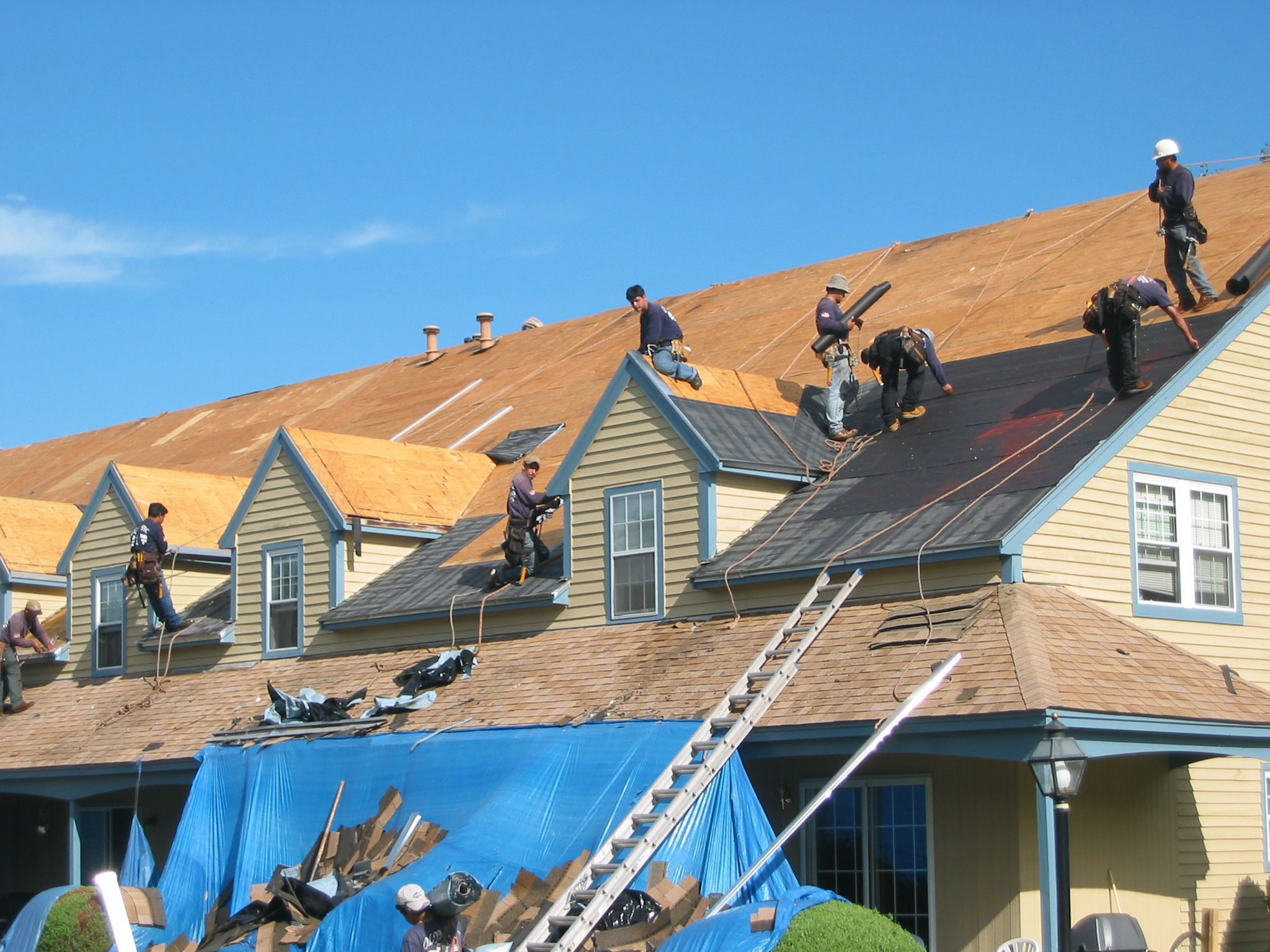 Image result for installing new roofing