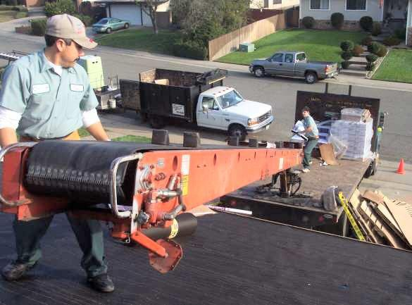 loading a roof, hamilton roofing, roofers in hamilton
